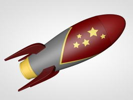 Toy Rocket 3d preview