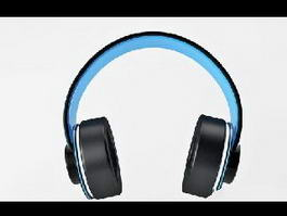 Blue Headphone 3d preview