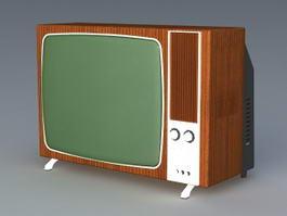 70s Television Set 3d model preview