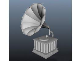Antique Phonograph 3d preview