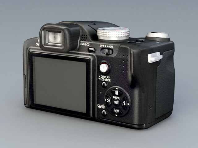 Panasonic FZ8 Digital Camera 3d rendering
