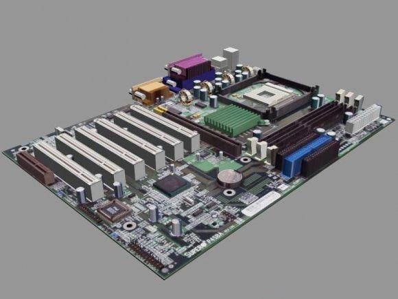 Computer Motherboard 3d rendering