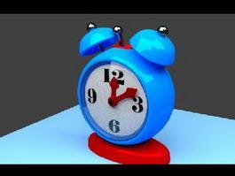 Blue Alarm Clock 3d model preview