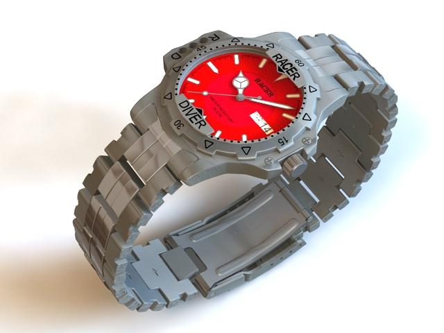 Racer Watches 3d rendering