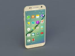 Samsung Galaxy S6 3d model preview