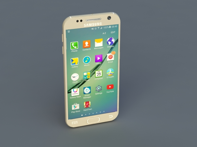 Samsung Galaxy S6 3d rendering