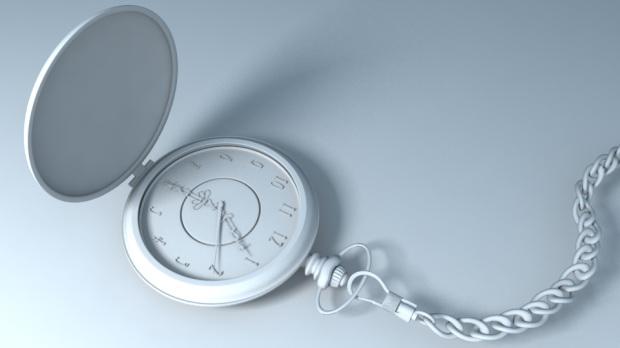 Old Pocket Watch 3d rendering