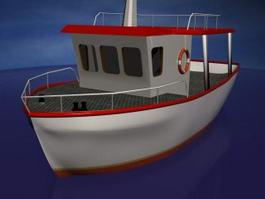 Cartoon Boat 3d preview