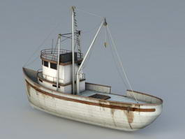 Commercial Fishing Boat 3d model preview