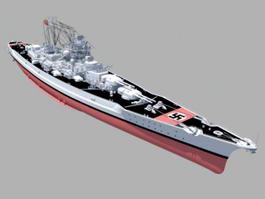 German Battleship Bismarck 3d model preview