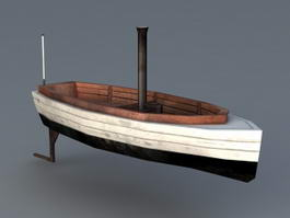 Barkasse Small Boat 3d model preview
