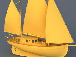 Sailing Boat 3d preview