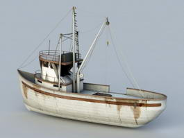 Small Fishing Boat 3d model preview