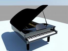 Grand Piano 3d model preview