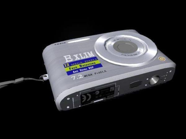 Casio Exilim Digital Camera 3d rendering
