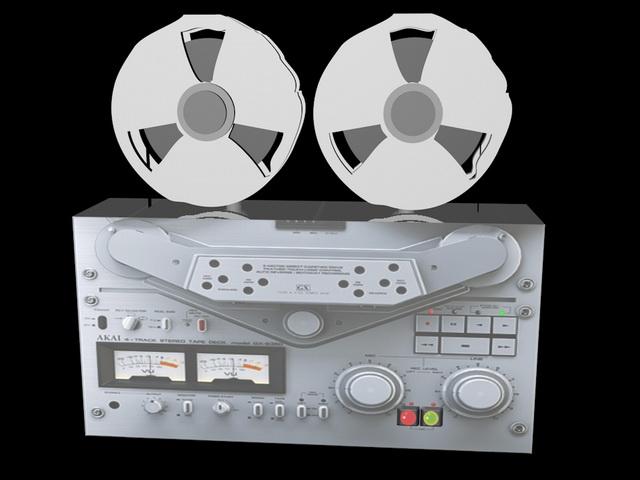 Open Reel Tape Recorder 3d rendering