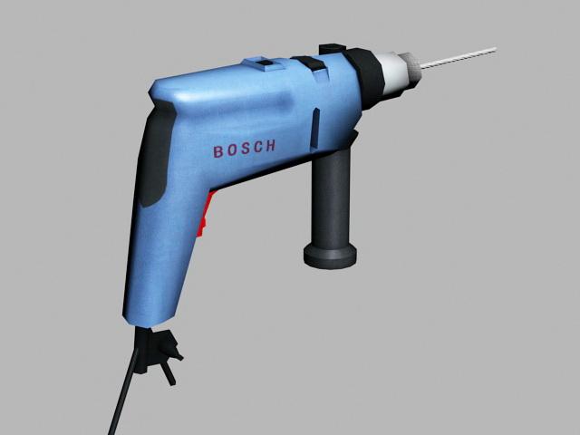 Bosch Power Drill 3d rendering