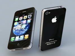 Apple iPhone 4 3d model preview