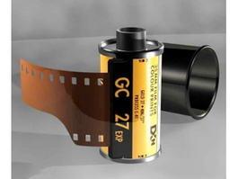 Camera Film Roll 3d model preview