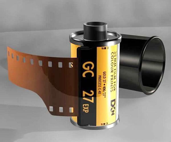 Camera Film Roll 3d rendering