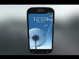 Samsung Galaxy S3 3d model preview