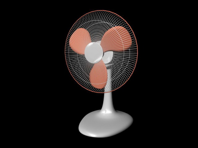 Electric Fan 3d rendering