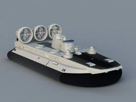 Navy US Military Hovercraft 3d preview