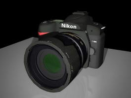 Nikon D90 Camera 3d preview