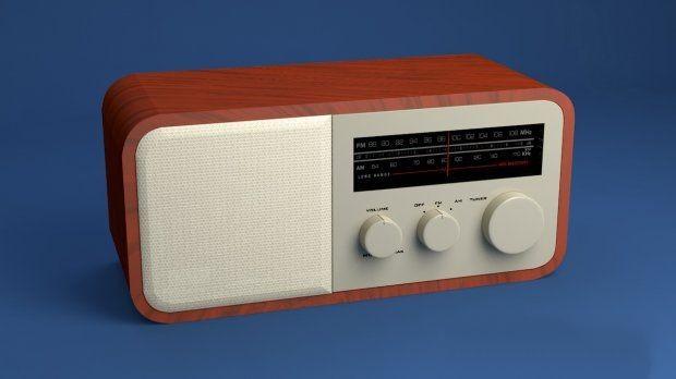 Old Radio 3d rendering