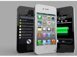 iPhone 4 Black and White 3d model preview