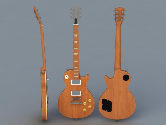 Electric Guitar 3d rendering