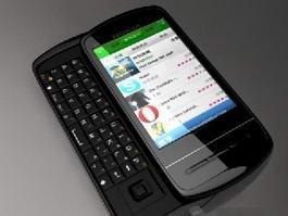 Nokia C6 Smartphone 3d model preview
