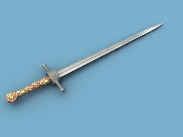 Celtic Sword 3d rendering