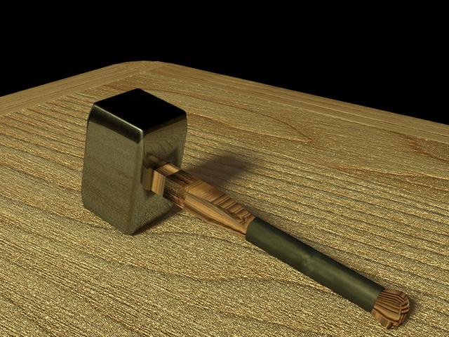 War Hammer Weapon 3d rendering
