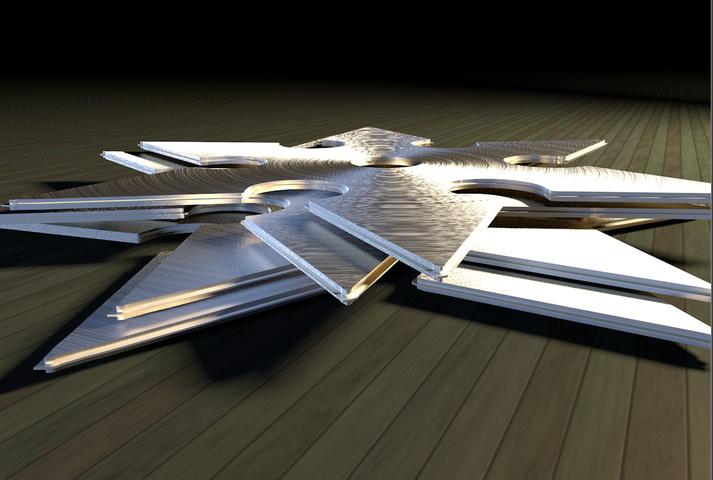 Ninja Throwing Star 3d rendering