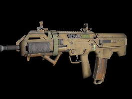 Ghosts Assault Rifle 3d preview