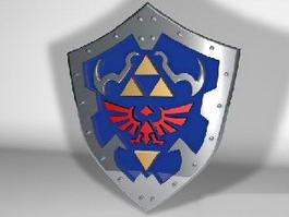 Zelda Hylian Shield 3d preview