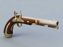 Flintlock Pistol 3d model preview