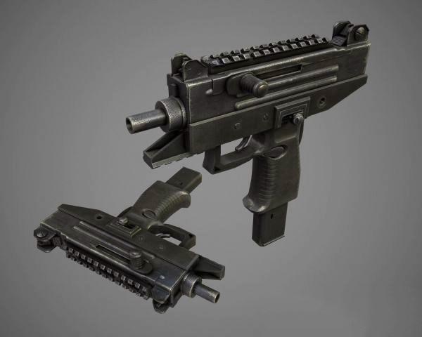 Uzi Pro Submachine Gun 3d rendering