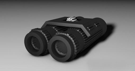 Military Binoculars 3d rendering