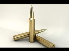 Sniper Rifle Bullets 3d model preview