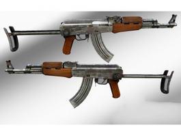 AKM Assault Rifle 3d preview