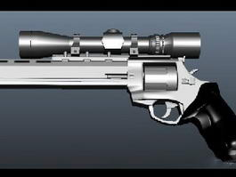 Pistol with Scope 3d preview