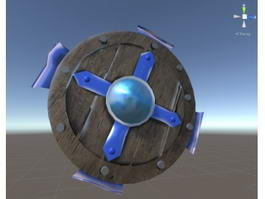 Wooden Shield 3d preview
