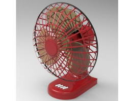 Retro Table Fan 3d preview