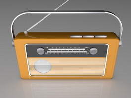Retro Radio 3d preview