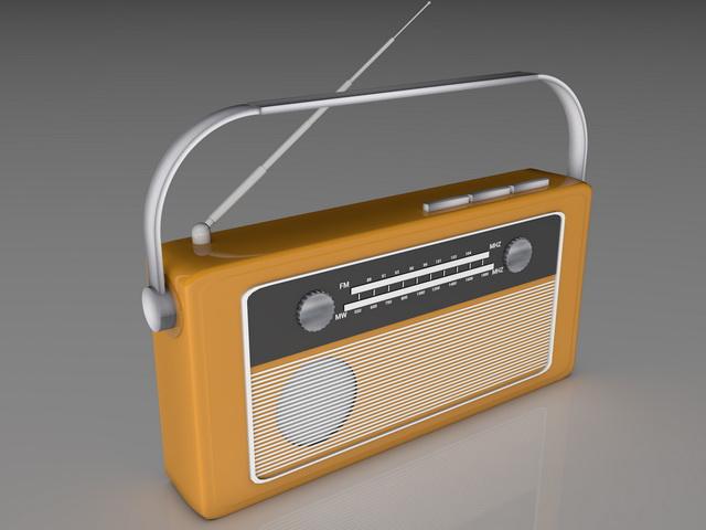 Retro Radio 3d rendering