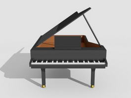 Grand Piano 3d preview