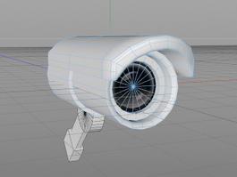 CCTV Camera 3d preview