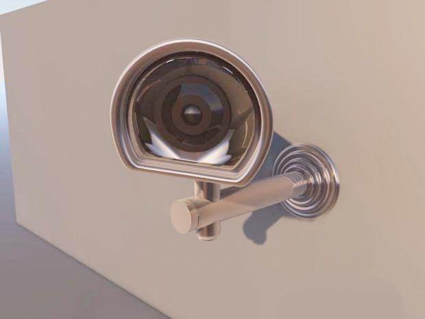 Outdoor CCTV Camera 3d rendering